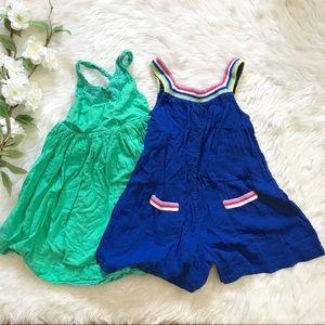 Bundle of 2 Mini Boden- Boho Dress and Romper